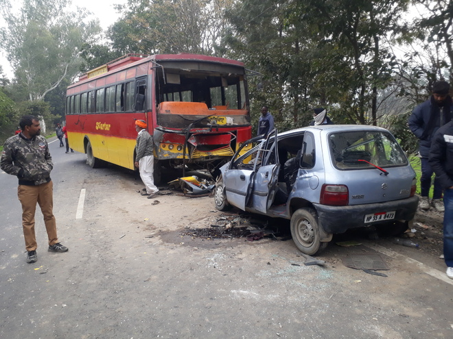 4 killed in bus-car collision