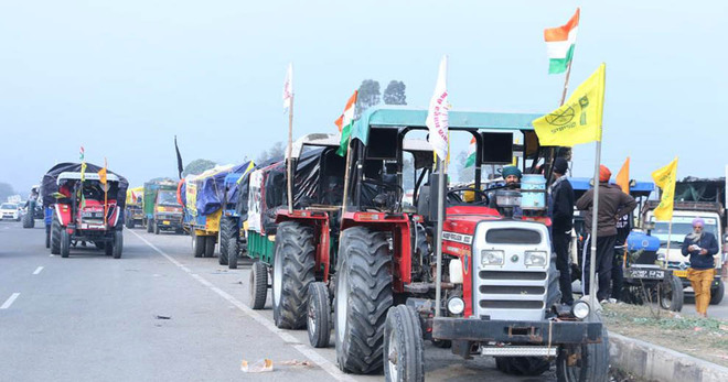 Farmers' cavalcade leaves for national capital