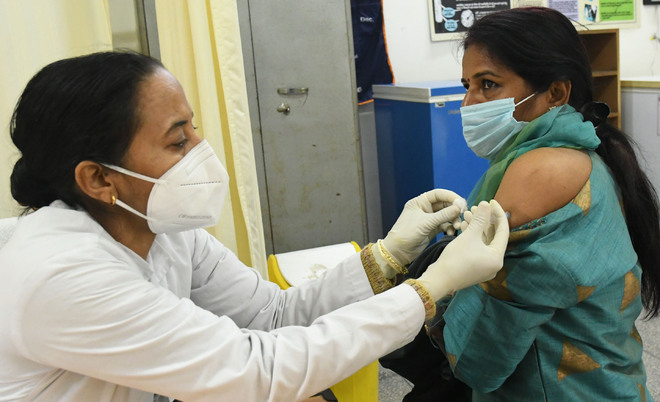 52% health workers take jab in one week in Chandigarh