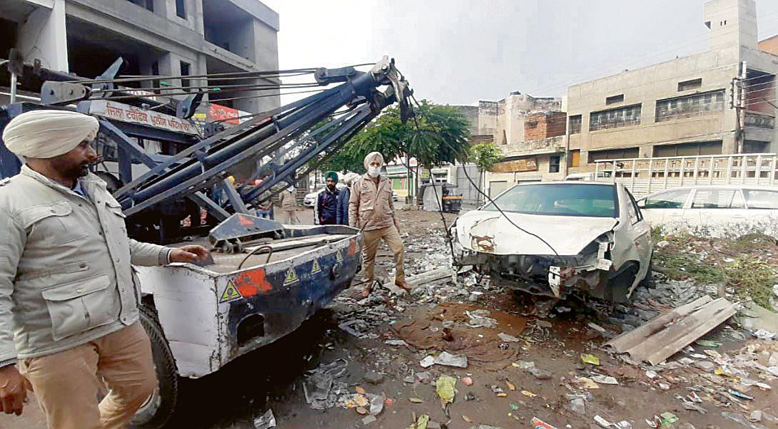 Encroachments removed from Sai Market in Patiala
