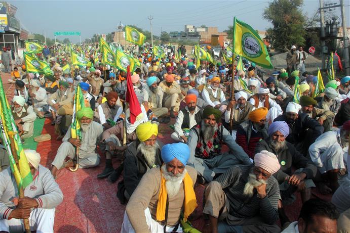 BKU marches against farm laws in Ludhiana
