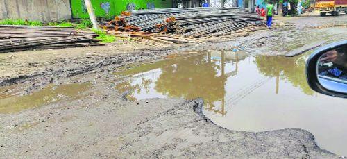 Potholed streets bane of Faridabad sectors