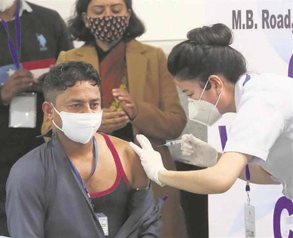 64% health workers take jab, poor show in Punjab