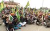 Farmers protest outside Union minister's virtual event venue