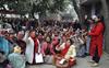 Anganwadi workers in Ludhiana hold sit-in, demand salary hike