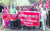 ASHA, anganwadi workers protest in support of farmers