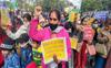 Education Dept employees protest en masse transfers