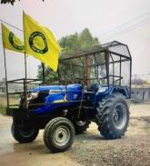Modified tractors, hardshell trailers for R-Day march