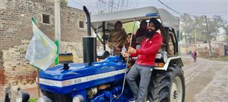 Tractor rally: Women farmers at the helm