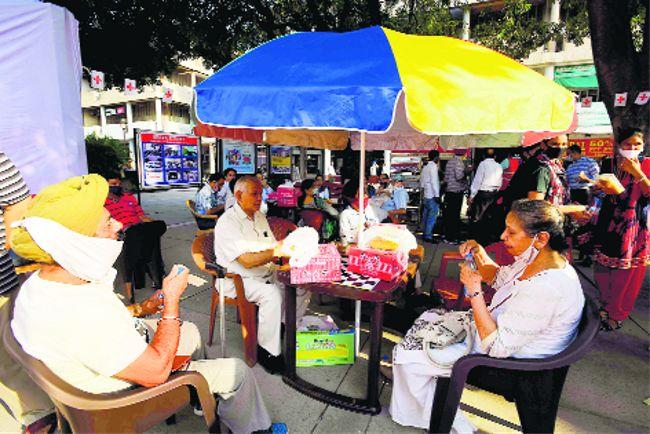Specialised 'Baithak' corner for elderly comes up at Sector-17 Plaza, Chandigarh