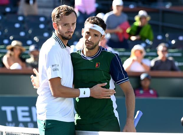 Dimitrov stuns top-seeded Medvedev with grand comeback at Indian Wells