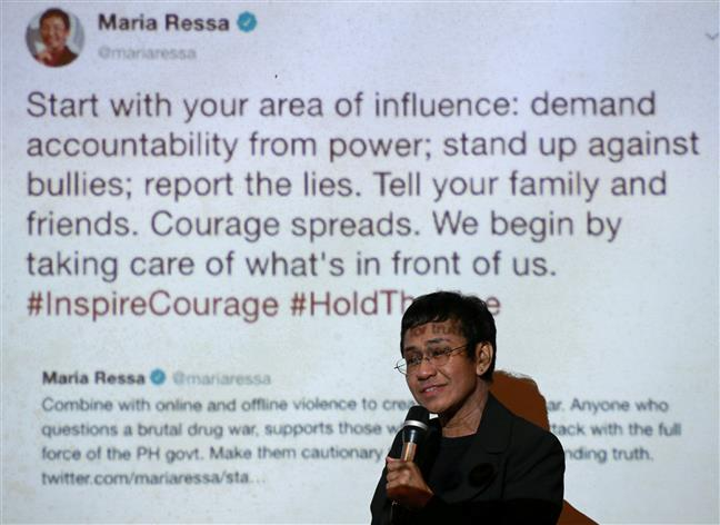 Nobel Peace Prize winner Maria Ressa calls Facebook 'biased against facts'