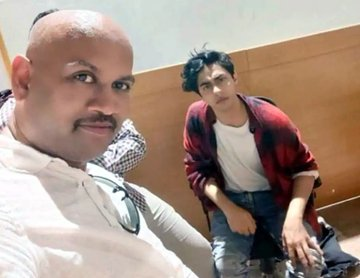 Lookout notice for man who took viral selfie with Aryan Khan during drugs raid in cruise ship