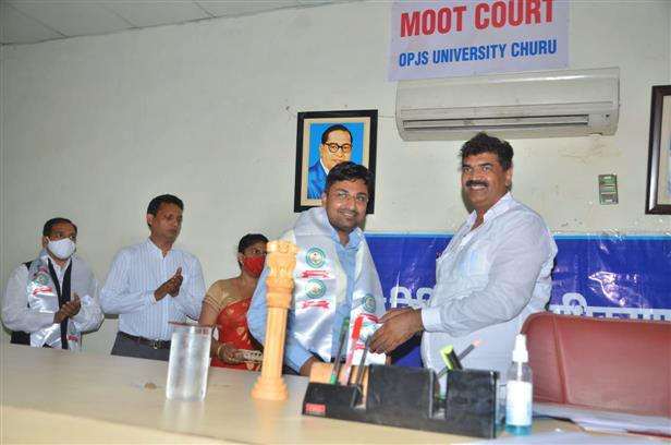 Moot Court Competition held at OPJS University