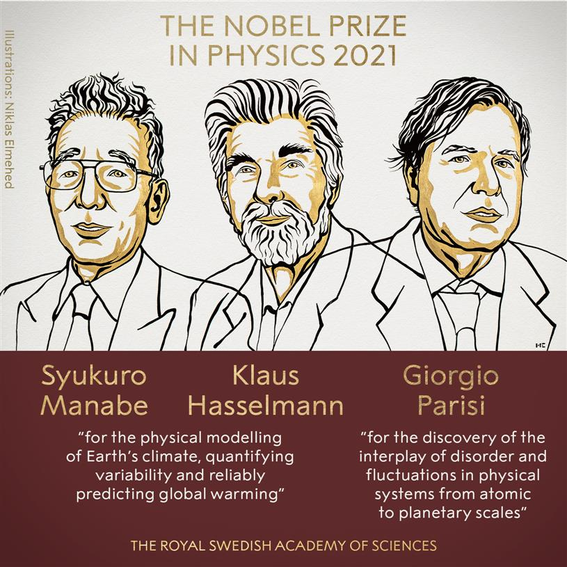 Nobel physics prize goes to 3 for climate discoveries