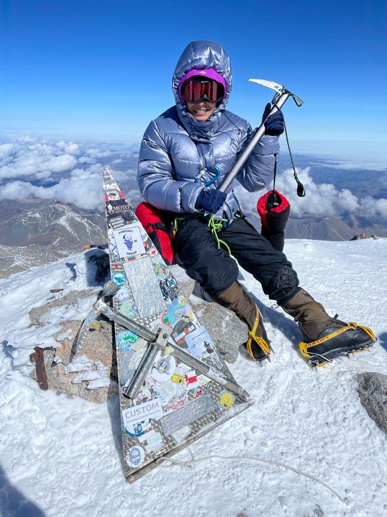 Chandigarh girl performs Surya Namaskar on Europe's highest peak