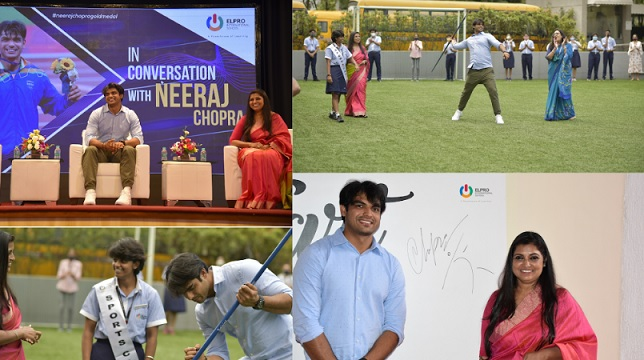 The man with the 'Golden Arm' visits Elpro International School