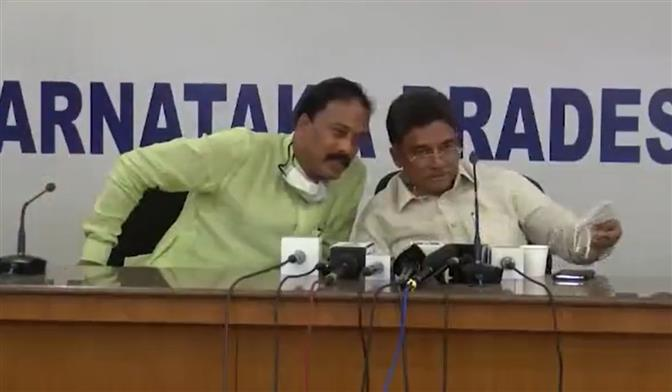 Congress spokesman, media coordinator link party unit chief to scam; video goes viral