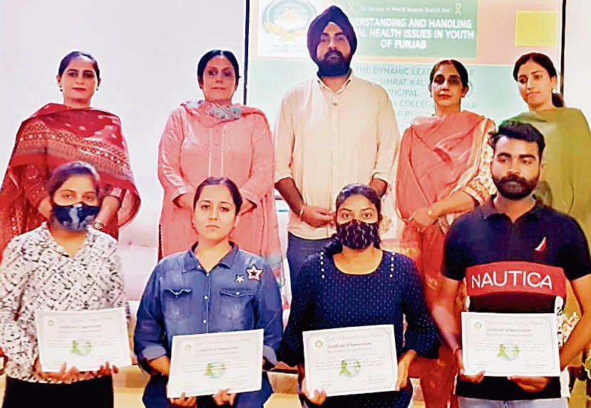 Mental health awareness talk at Mohindra College, Patiala