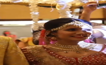 This bride stops during her grand entry at the wedding venue and her video has gone viral