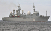 Chinese, Russian naval vessels jointly sail through Japan strait