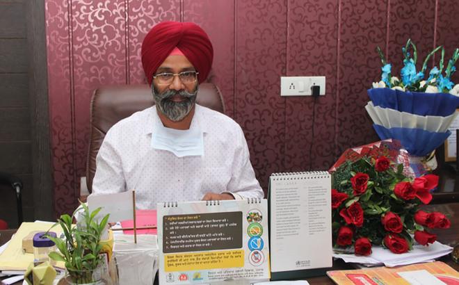 Dr Ranjit Ghotra assumes charge as new Civil Surgeon of Jalandhar