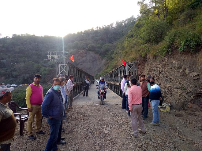 Rs 1.3-cr bailey bridge set up, Shimla-Mandi road restored