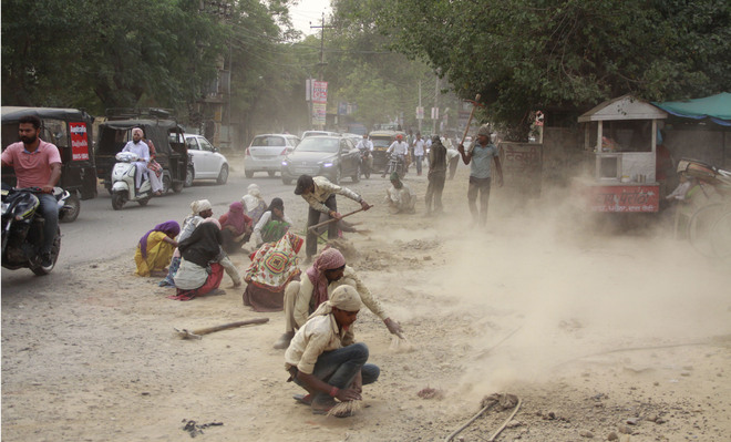 Road construction work takes a toll on Jalandhar city's air quality index