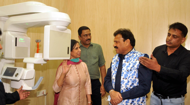 Raj Kumar Verka inaugurates dental scanner, elevator at GDCH