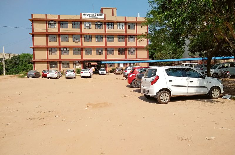 Parking pangs the norm at Panchkula Judicial Court Complex