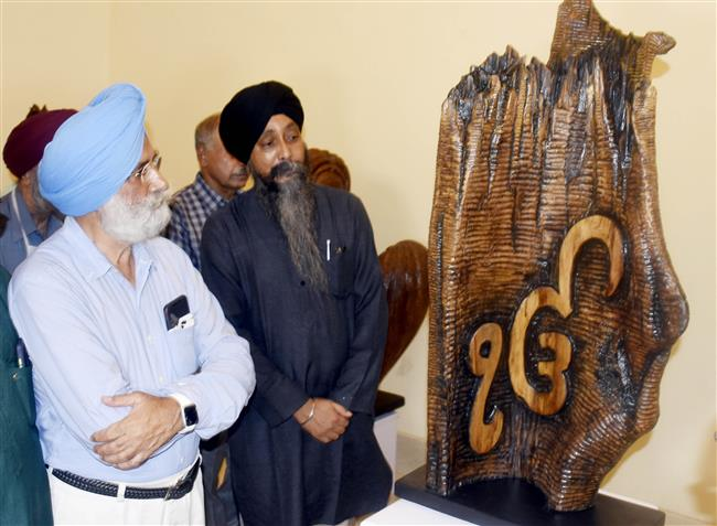 46 wooden sculptures on display at Amritsar's art gallery