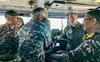 Aboard Carl Vinson, Navy Chief, US commander witness Malabar drill