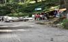 Traffic jam on road leading to hospital