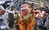 Farmers burn effigies of PM Modi, Manohar Lal Khattar, BJP-JJP leaders
