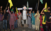 Farm activists burn effigies of PM, UP CM