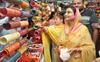 Eyeing polls? Harsimrat Badal does Karwa Chauth shopping in Jalandhar Cantt bazaar