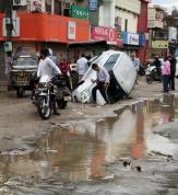 Rain leaves many city areas flooded