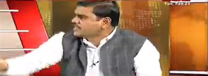 Live TV debate turns ugly as Amaravati activist throws slipper at Andhra Pradesh BJP leader