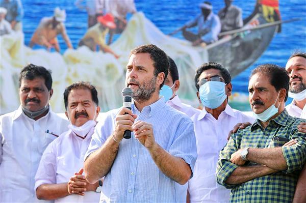 I admire what you do: Rahul Gandhi tells fishermen of Kerala; sails with them