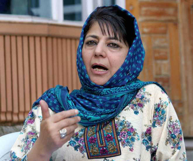 A day after JK violence, Mehbooba calls for dialogue with Pakistan