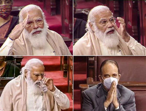 Modi breaks down as he bids adieu to Ghulam Nabi Azad in Rajya Sabha
