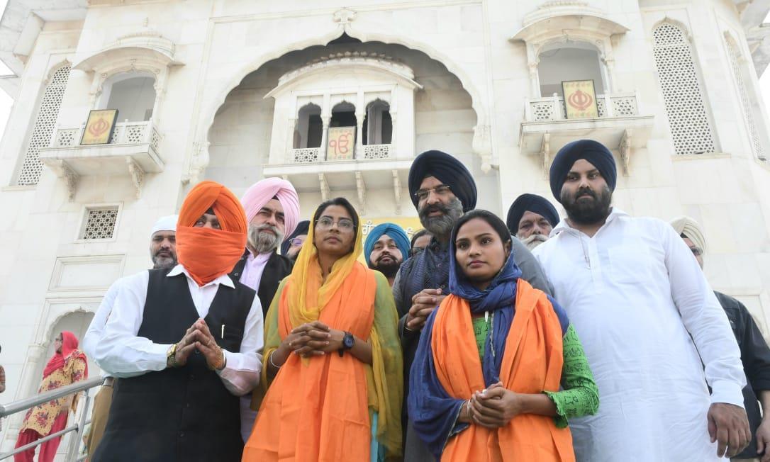 Naudip Kaur reached Gurdwara