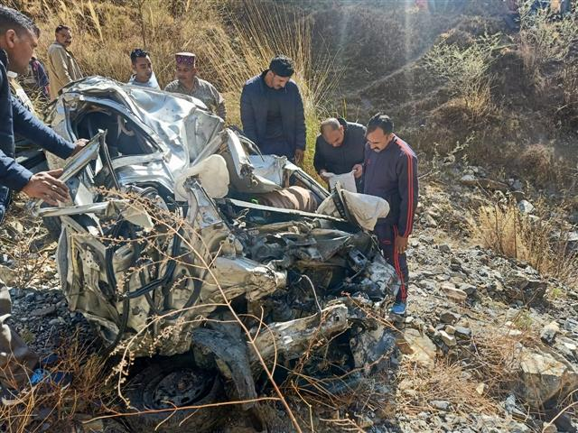 Three Delhi tourists killed after car falls into gorge in Himachal's Mandi