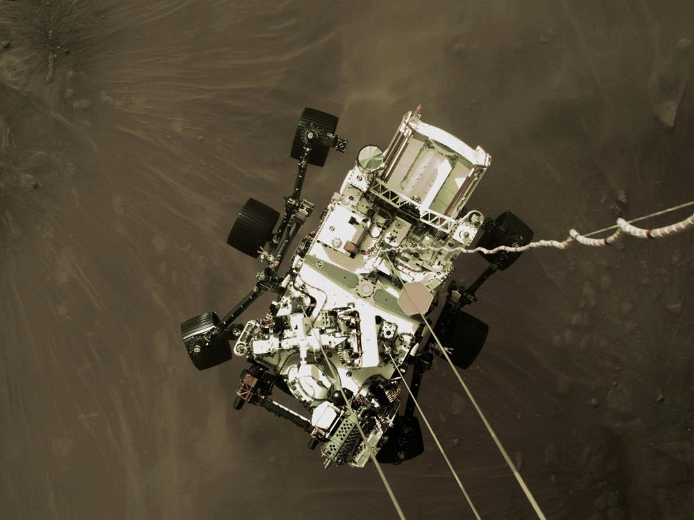 'Something we've never seen': Mars rover beams back selfie of moment before landing
