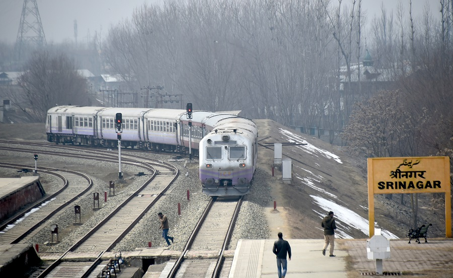 Train services resume in Kashmir after 11 months