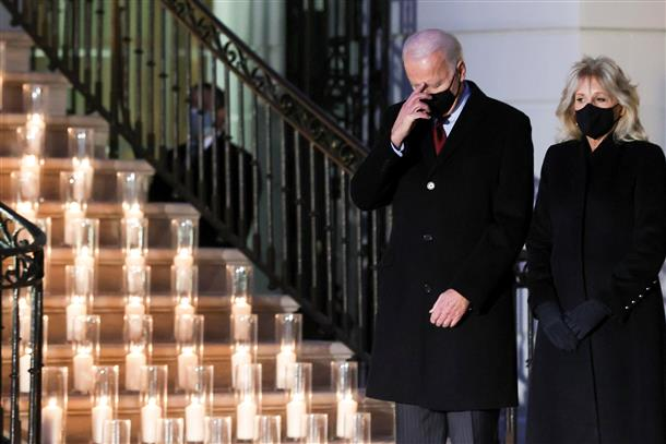 Biden leads Americans in moment of silence to mourn 5 lakh US COVID-19 deaths