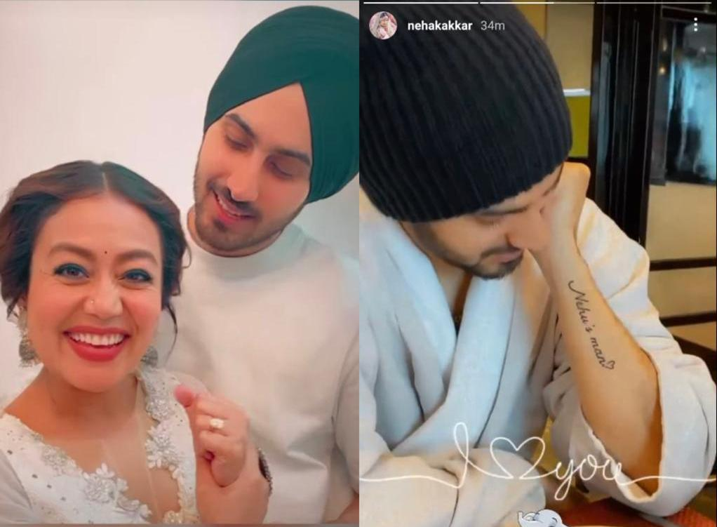 Rohanpreet Singh gets a tattoo for Neha Kakkar on Valentine's Day; 'Nehu's man', it reads; check it out