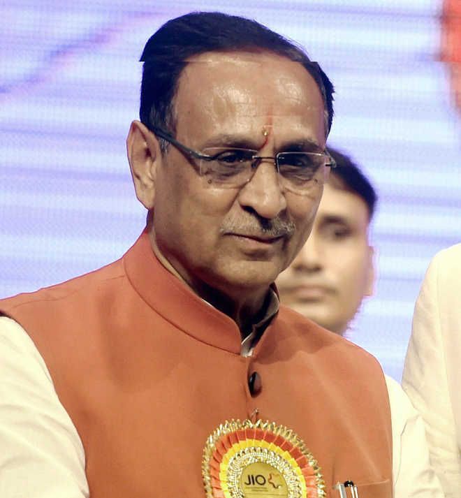Gujarat CM Vijay Rupani collapses on stage at poll rally