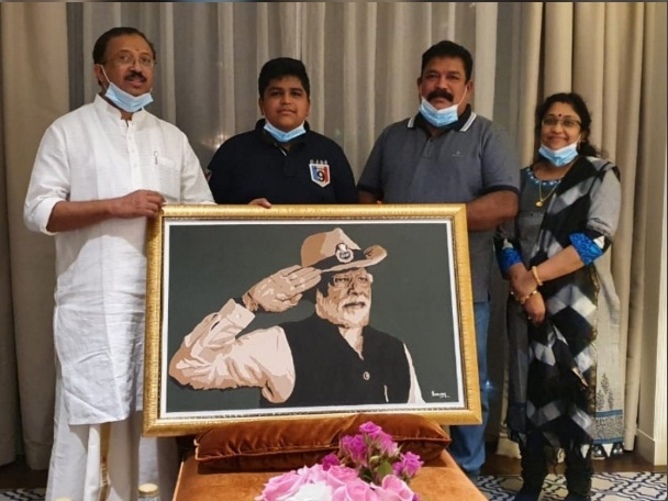14-yr-old Dubai boy who made Modi's portrait receives letter of praise from PM