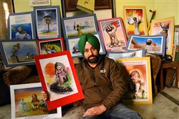 Bathinda artist using paintings to highlight farmers' issues